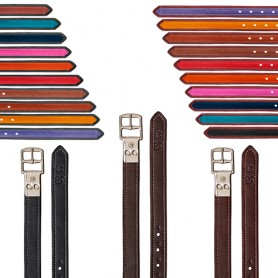 Acion Estribo Bates Cuero Luxe Leather Con Hebillas (Par)