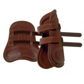 Protector Pessoa Cuero Delantero Con Velcros Forro Interior Cuero (Par)
