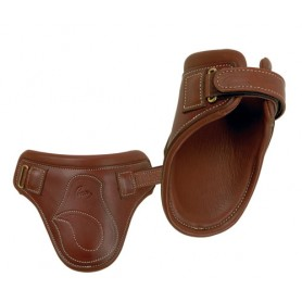 Protector Pessoa Cuero Menudillo Con Velcros Forro Interior Cuero (Par)
