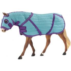 Breyer 2040 - Quilted Blanket And Hood Set (Manta Con Cubrecuello Y Capucha) - Colección Traditional