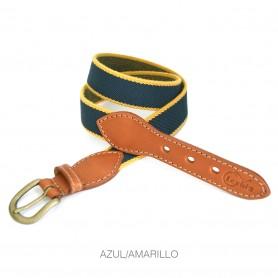 Cinturón Lexhis Elastico Niño Azul/Amarillo