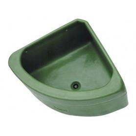 Comedero Equip´Horse Esquina Triangular Con Desagüe Plastico Verde