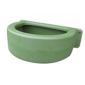 Comedero Equip´Horse Pared Redondo Con Desagüe Plastico Verde