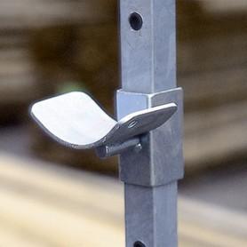Soporte Barra Obstáculo Para Reparo Metálico Doble