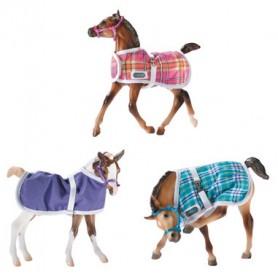 Breyer 2475 - Foal Blanket - 3 Piece Assort.With Halter (3 Mantas Potrillos) - Colección Traditional
