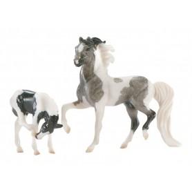 Breyer 5930/591020 - Horse & Foal Set (Surtido 8 Juegos Yegua Y Potrillo) - Colección Stablemates