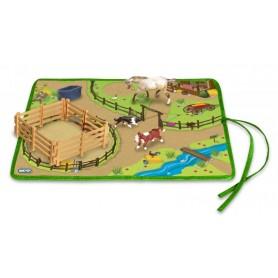 Breyer 5934/591054 - Roll And Go Western Play Set (Animales De La Granja)-Colección Stablemates