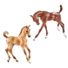 Breyer 619/591031 - Colourful Foals Dun (2 Potrillos) - Colección Classics