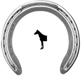 Herradura Kerckhaert Kings Plate Aluminio Sin Pestaña Delantera